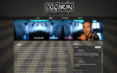 Screenshot of About Page djseran.com - » About DJ SERAN – The Rough and Tough Rider - captured Sept. 30, 2014