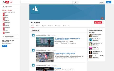 Screenshot of YouTube Page youtube.com - Kit Urbano  - YouTube - captured Oct. 23, 2014