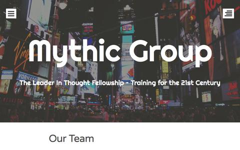 Screenshot of Team Page mythicgroup.com - Our Team | Mythic Group - captured Oct. 29, 2014