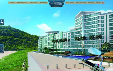 Screenshot of Home Page bravabeach.com.br - Grupo Brava Beach - captured Oct. 5, 2014