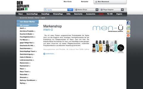 Screenshot of Menu Page dergepflegtemann.de - men-ü | DerGepflegteMann.de - captured Sept. 23, 2014