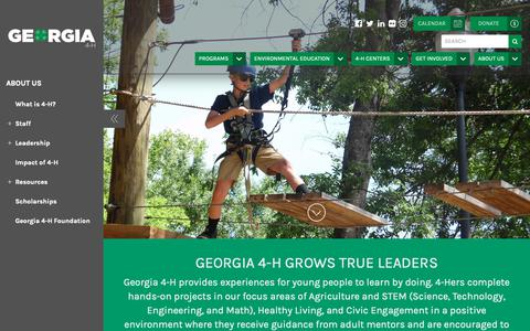 Screenshot of About Page georgia4h.org - About Us « Georgia4H - captured Nov. 3, 2018