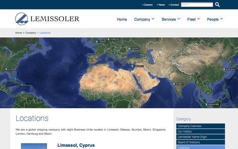 Screenshot of Contact Page Locations Page lemissoler.com - Lemissoler Navigation Co. Ltd - captured Aug. 3, 2017