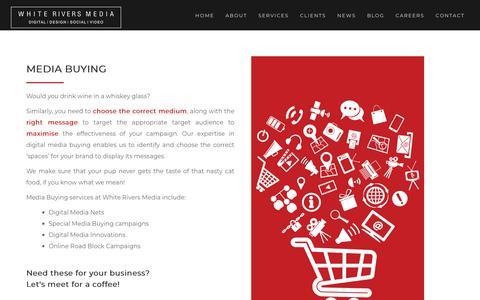 Screenshot of Press Page whiteriversmedia.com - Digital Media Planning & Media Buying Agency in Mumbai & Delhi, India | WRM - captured Nov. 2, 2018