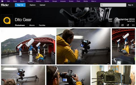 Screenshot of Flickr Page flickr.com - Flickr: Dito Gear's Photostream - captured Oct. 25, 2014