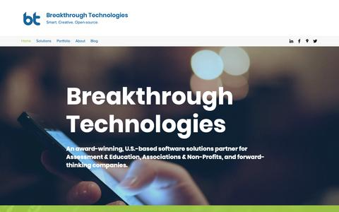 Screenshot of Home Page breaktech.com - Breakthrough Technologies | Online Testing | United States - captured Feb. 12, 2019