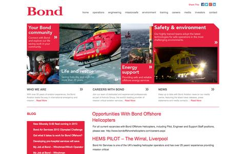 Screenshot of Blog bondaviationgroup.com - Blog | Bond Aviation Group - captured Oct. 5, 2014