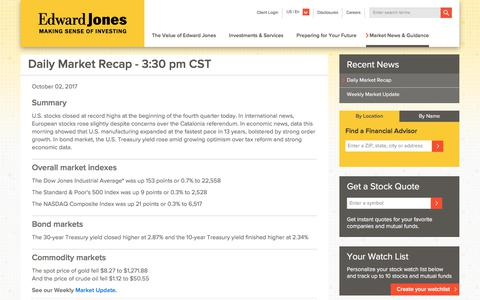 Stock & Bond Markets Today | Edward Jones