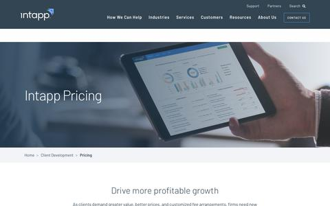 Screenshot of Pricing Page intapp.com - Pricing • Intapp - captured March 21, 2018