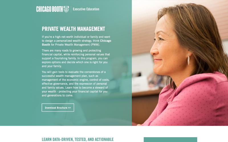 Executive Education at Chicago Booth | Private Wealth Management