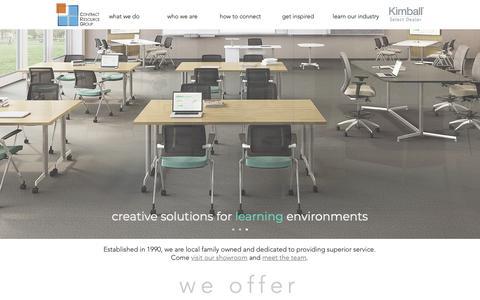 Screenshot of Home Page contractresourcegroup.com - Office Furniture | Contract Resource Group, Spokane, Washington - captured Nov. 5, 2018