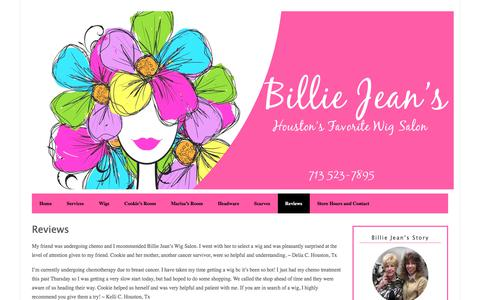 Screenshot of Products Page billiejeans.com - Reviews - Billie Jean's - captured July 1, 2018
