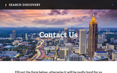 Screenshot of Contact Page searchdiscovery.com - Contact Us | Search Discovery - captured June 16, 2017