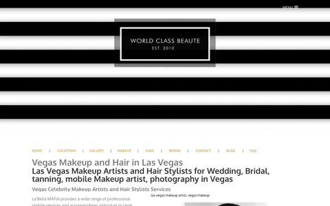 Screenshot of Services Page labellamafiabeauty.com - Las Vegas Wedding Makeup Artists, Hair Stylists, Spray Tanning in Las Vegas - La'Bella MAFIA Makeup Artists + Hair Styling Agency - captured Dec. 2, 2016