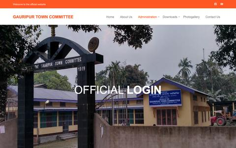 Screenshot of Login Page gauripurtc.org - Gauripur Town Committee - captured Oct. 30, 2018