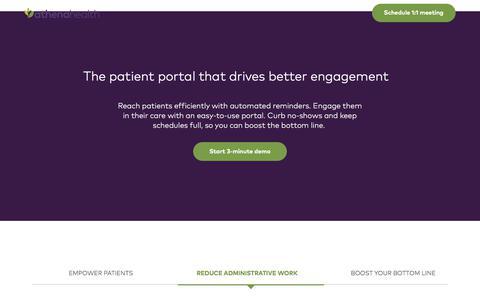 Screenshot of Landing Page athenahealth.com - athenahealth | athenaCommunicator - captured Nov. 30, 2017