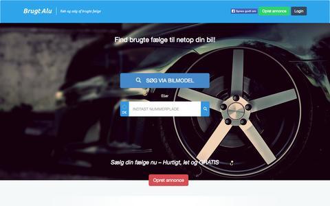 Screenshot of Home Page brugtalu.dk - Forside - BrugtAlu.dk - captured Jan. 21, 2015