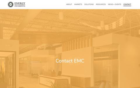 Screenshot of Contact Page emcllc.com - Contact EMC :: Energy Management Collaborative, LLC - captured Sept. 28, 2018