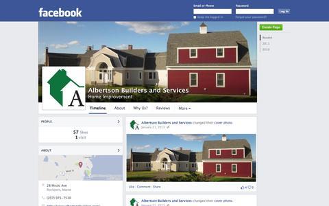 Screenshot of Facebook Page facebook.com - Albertson Builders and Services - Rockport, ME - Home Improvement | Facebook - captured Oct. 23, 2014