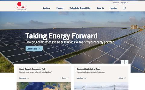 Screenshot of Login Page firstsolar.com - Vertically Integrated Utility-Scale PV Power Solutions Provider | First Solar - captured June 16, 2015