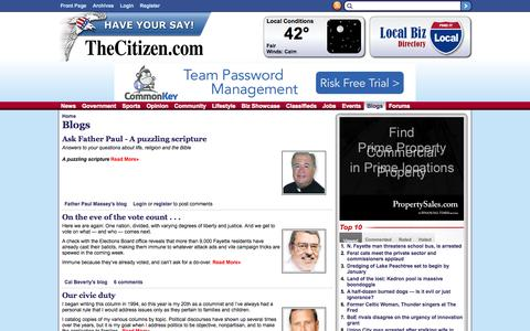 Screenshot of Blog thecitizen.com - Blogs | The Citizen - captured Oct. 31, 2014