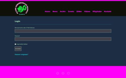 Screenshot of Login Page blaari.ch - Login  »  Guggenmusik Mehrzweckblaari Waldstatt - captured Dec. 1, 2018
