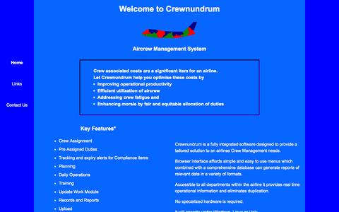 Screenshot of Home Page crewnundrum.net - Crewnundrum - Aircrew Management System - captured Oct. 3, 2014