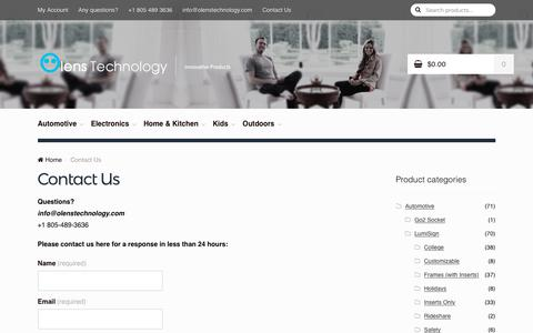 Screenshot of Contact Page olenstechnology.com - Contact Us – Olens Technology - captured Oct. 29, 2017