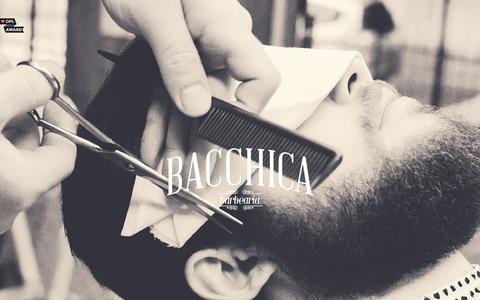 Screenshot of Home Page bacchica.com.br - Bacchica Barbearia - captured Feb. 11, 2016