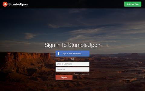 Screenshot of Login Page stumbleupon.com - Sign in to StumbleUpon | StumbleUpon.com - captured Oct. 10, 2014