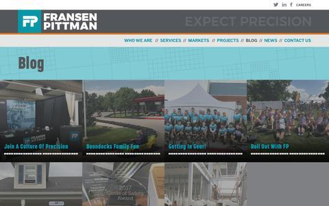 Screenshot of Blog fransenpittman.com - Blogs - Fransen Pittman General Contractors - captured Oct. 11, 2018