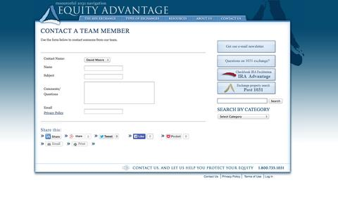 Screenshot of Team Page 1031exchange.com - Contact Our Team Members - captured Sept. 23, 2014