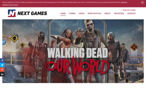 Screenshot of Home Page nextgames.com - Next Games - captured July 13, 2018
