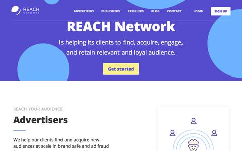Screenshot of Home Page reachnetwork.pro - REACH Network - captured June 24, 2017
