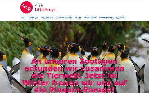 Screenshot of Home Page littlefrogs.ch - Kita Little Frogs I 8008 Zürich - captured Dec. 1, 2018