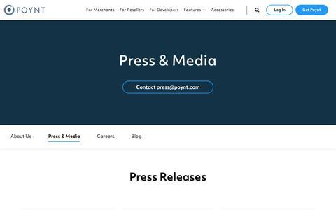 Screenshot of Press Page poynt.com - Poynt - captured Nov. 28, 2019