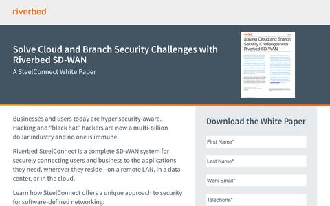 Solve Cloud and Branch Security Challenges with Riverbed SD-WAN