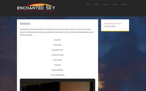 Screenshot of Services Page wordpress.com - Services | - captured Sept. 12, 2014