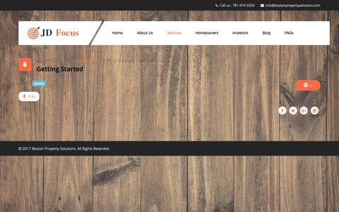 Screenshot of Services Page bostonpropertysolutions.com - Services - captured Oct. 6, 2018
