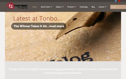 Screenshot of Press Page tonboimaging.com - Tonbo Imaging – Advanced Electro Optics - captured Dec. 17, 2018