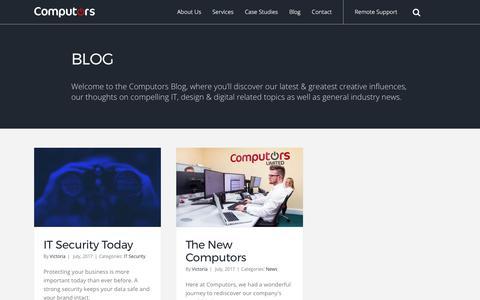 Screenshot of Blog computors.com - Our latest and greatest creative influences | Computors - captured Aug. 12, 2017