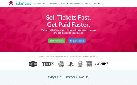 Sell Tickets Online: Event Management and Ticketing | Ticketbud