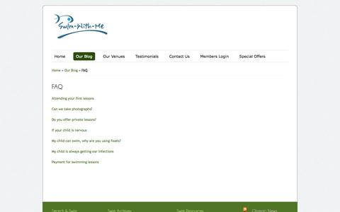 Screenshot of FAQ Page swim-with-me.co.uk - FAQ | Swim-With-Me - captured Oct. 9, 2014
