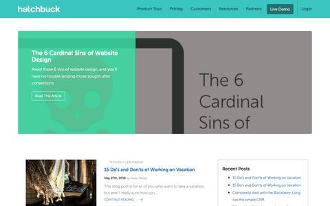 Screenshot of Blog hatchbuck.com - Blog - Hatchbuck - captured May 28, 2016
