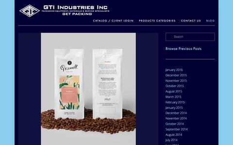 Screenshot of Blog gtiindustries.com - Blog — GTI Industries Inc - captured Jan. 25, 2016