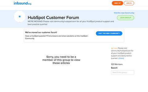 HubSpot Customer Forum