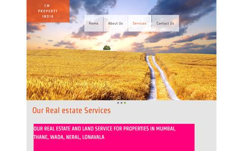 Screenshot of Services Page cmpropertyindia.com - Land broker agent service in Mumbai, Real estate Service in Wada, Real estate service in Mumbai Thane - captured May 18, 2017