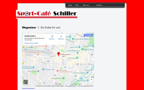 Screenshot of Maps & Directions Page cafe-schiller.de - Cafe Schiller - Directions - captured June 10, 2018