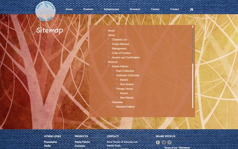Screenshot of Site Map Page somatextiles.com - Sitemap - captured Oct. 7, 2014