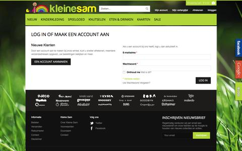 Screenshot of Login Page kleinesam.nl - Klant Login - captured Aug. 9, 2016